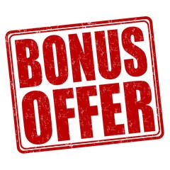 Bonus offer stamp
