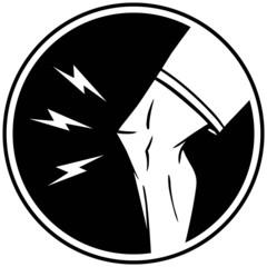 Knee Injury Insignia