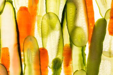 fresh vegetables slices