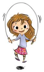 niña saltando en la cuerda