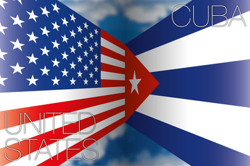 usa vs cuba flags