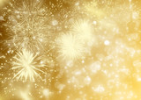 Fototapety Abstract holiday background with fireworks