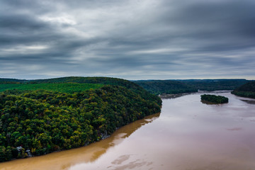 View of the Susquehanna River from the Pinnacle, in Lancaster Co