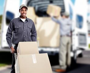 African-American postman.