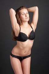 Beautiful slender graceful girl in lingerie