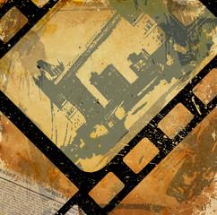 Grunge frame background.