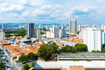 Aerial view of Sao Paulo in Brazil, South America