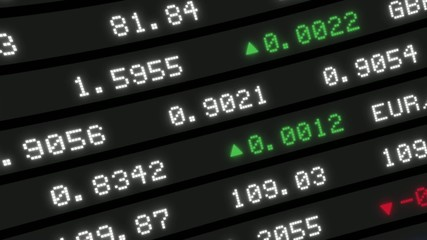 Stock Market board moving animation