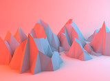 Colorful Abstract Mountains - 74922983