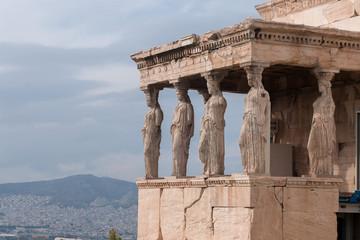 Erechtheion temple statues