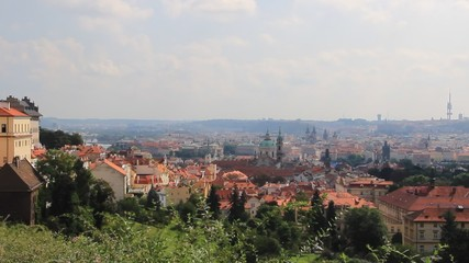 View on the roofs in Prague, Czech Republic