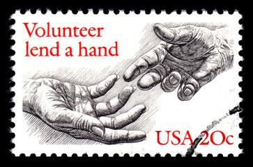 Volunteer, USA postage stamp