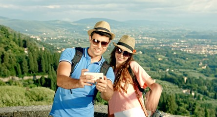 Pretty Couple Selfie Tuscany Beauty Nature Landscape Ecology