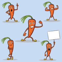 Cartoon carrots