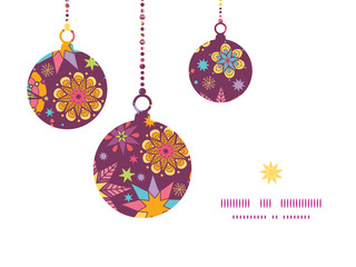 Vector colorful stars Christmas ornaments silhouettes pattern