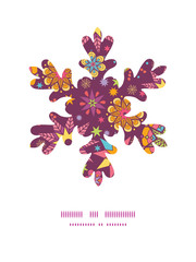 Vector colorful stars Christmas snowflake silhouette pattern