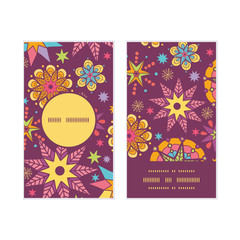 Vector colorful stars vertical round frame pattern business