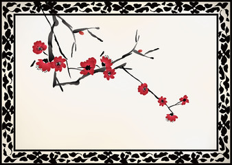 Chinese window frame