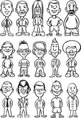 whiteboard drawing - cartoon avatar people