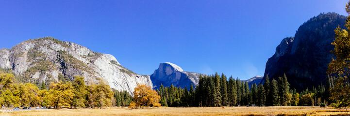 Panoramic view of Yosemite nation park, California, USA.