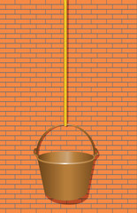 Bucket on a rope to work at height
