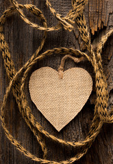 Heart on Rustic Wood