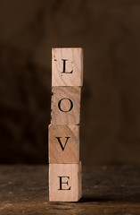 Love in Stamping Blocks
