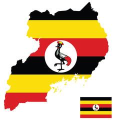 Flag of the Republic of Uganda