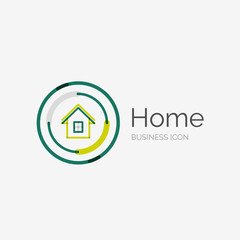 Thin line neat design logo, home idea