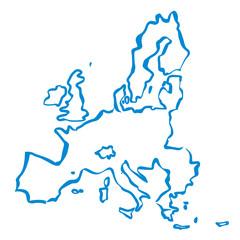 vector drawn european union borders