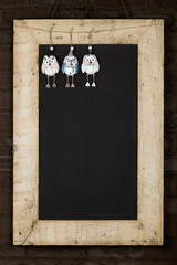 Merry Christmas New Years Chalkboard Blackboard Reclaimed Wood F