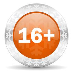 adults orange icon, christmas button