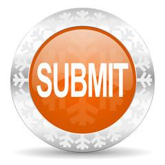 submit orange icon, christmas button