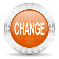 change orange icon, christmas button
