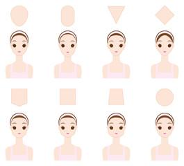 女の子の顔の形-タイプ別