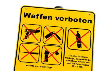 Waffenverbot