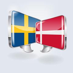 Sprechblasen in schwedisch und dänisch