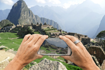 Machu Picchu smartphone photo
