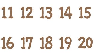 ナチュラルな数字 10番代