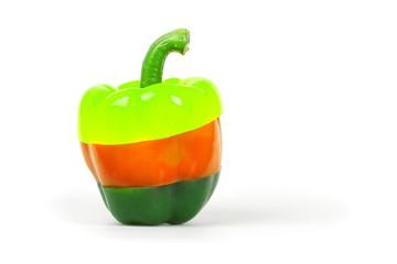 Neon colored pepper