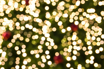 circular reflections of Christmas lights
