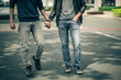 Gay couple - 74931911