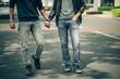 Leinwanddruck Bild - Gay couple