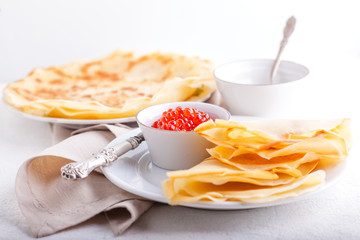 Caviar and crepes