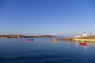 Early morning scenery in Ano Koufonisi island, Cyclades, Greece
