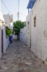 Street in Ano Koufonisi island, Cyclades, Greece