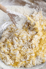 How to make yeast dough - step by step: mix all ingredients