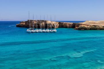 Amazing scenery in Ano Koufonisi island, Cyclades, Greece