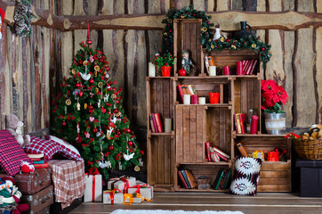 Christmas tree with beautiful decor and gifts