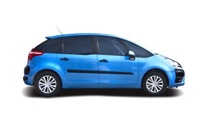 Blue MPV car